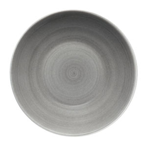 Modern Rustic Deep Coupe Plate Grey 18cm