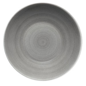 Modern Rustic Deep Coupe Plate Grey 30cm