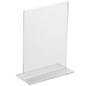 Perspex Vertical Menu Holder A4