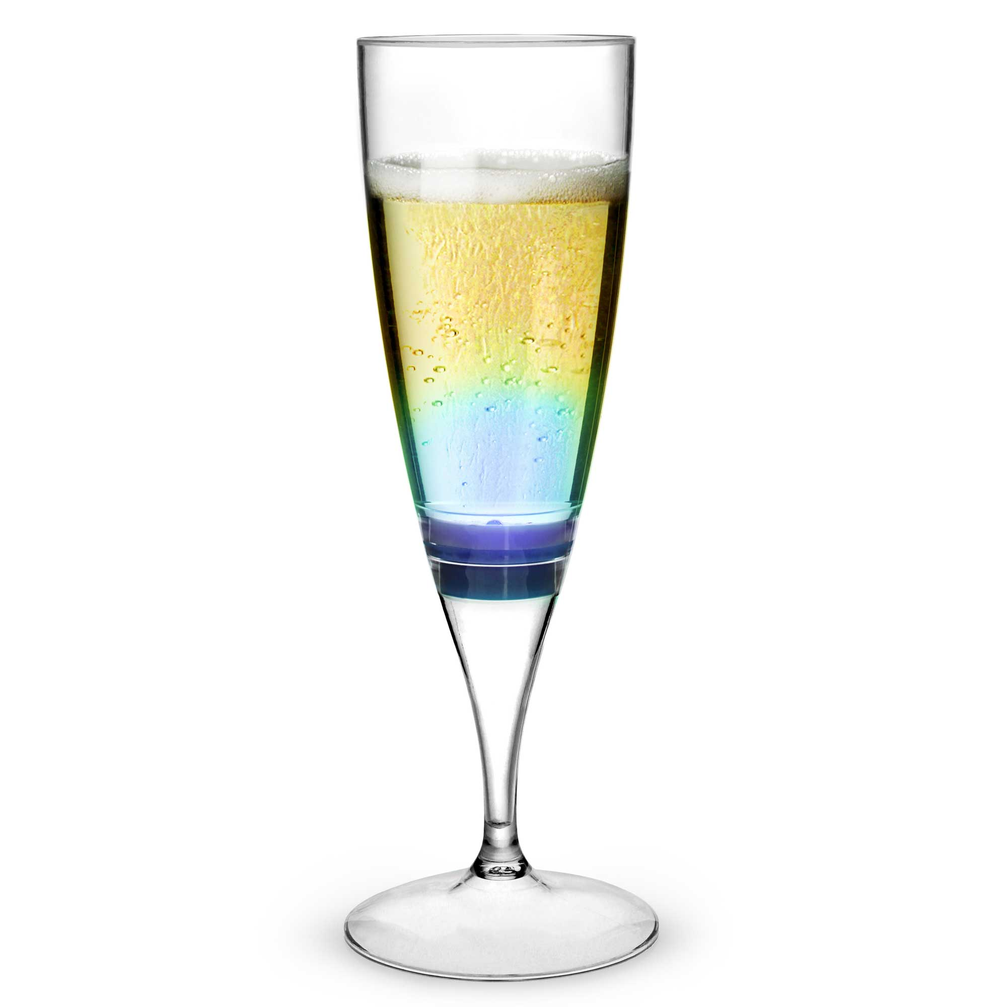 Led flashing light up champagne glasses 180ml at drinkstuff - Flute a champagne led ...