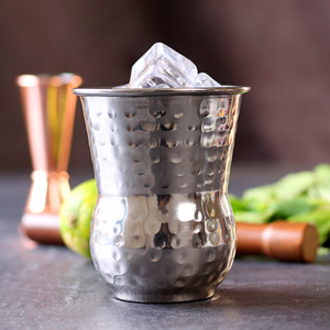 Moroccan Stainless Steel Hammered Tumblers 14oz / 400ml