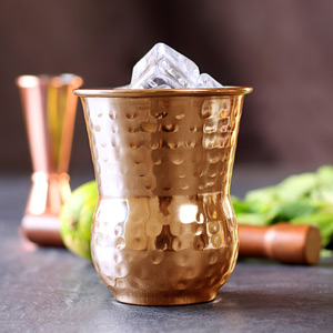 Moroccan Copper Hammered Tumblers 14oz / 400ml
