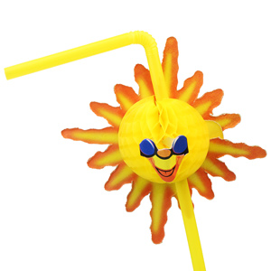Sunshine Bendy Straws Yellow