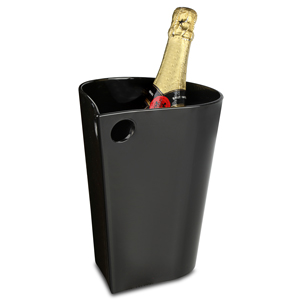 Teardrop Wine & Champagne Bucket Black