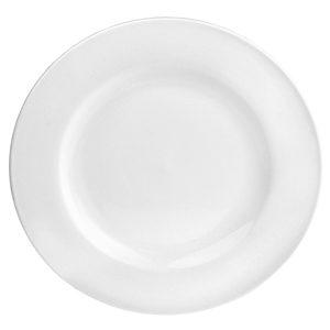 "Utopia Pure White Wide Rim Plate 10.6"" /  27cm"