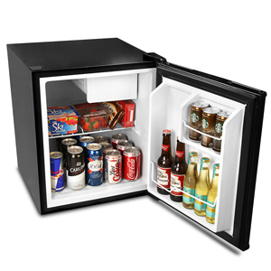 Frostbite Zero Degrees Mini Fridge with Icebox 49ltr Black