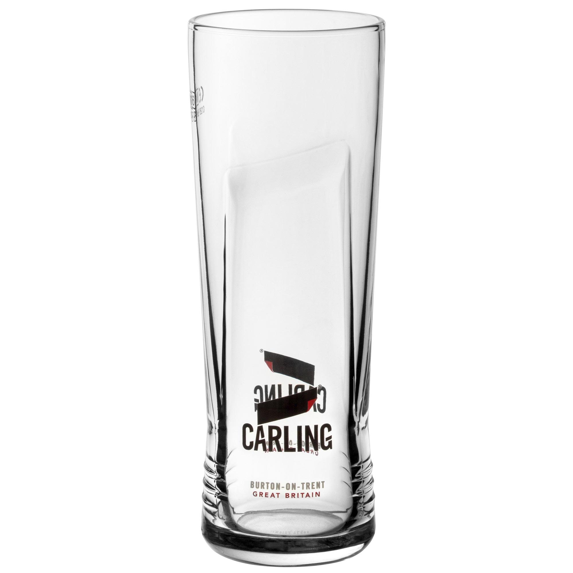 2 Carling Beer Pint Beer Glasses New