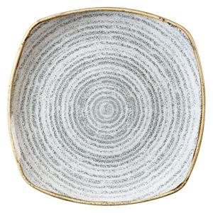 Studio Prints Homespun Square Plate Stone Grey 10inch / 25.2cm