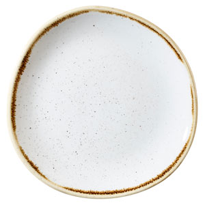 Churchill Stonecast Barley White Organic Round Plate 8.25 Inches / 21cm