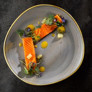 Churchill Stonecast Peppercorn Grey Organic Round Plate 11.25 Inch / 28.6cm