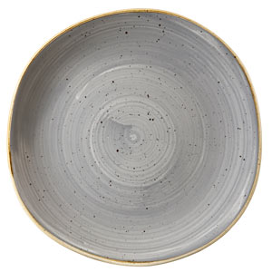 Churchill Stonecast Peppercorn Grey Organic Round Plate 10.4 Inch / 26.4cm