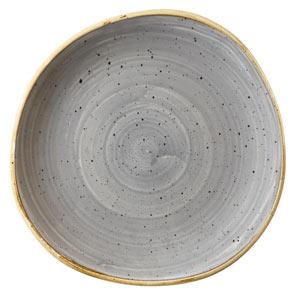 Churchill Stonecast Peppercorn Grey Organic Round Plate 8.2 Inch / 21cm