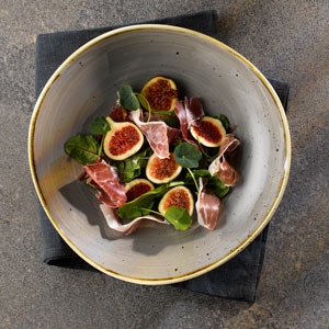 Churchill Stonecast Peppercorn Grey Organic Round Bowl 9.25 Inch / 25.3cm