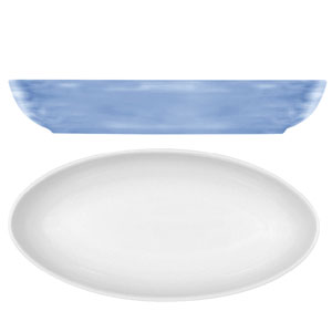 Modern Rustic Oval Dishes Blue 23cm