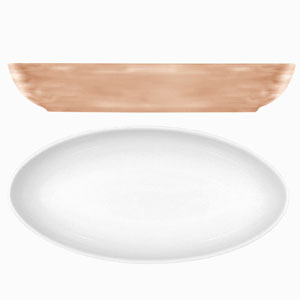 Modern Rustic Oval Dishes Sand 23cm