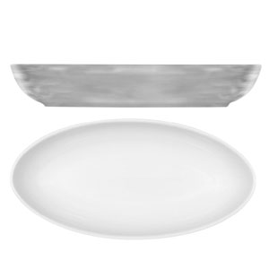 Modern Rustic Oval Dishes Grey 23cm