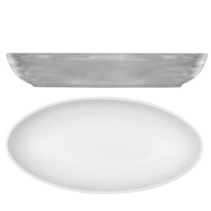 Modern Rustic Oval Dishes Grey 28cm