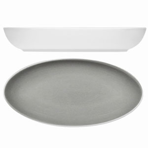 Modern Rustic Oval Dishes Stone 23cm