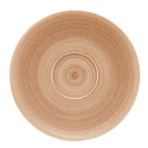 Modern Rustic Coupe Saucers Sand 19cm
