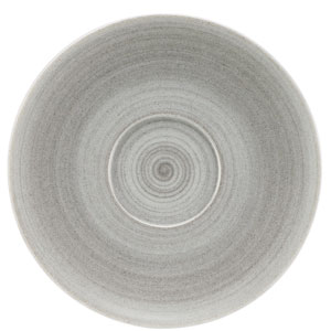 Modern Rustic Coupe Saucers Grey 15cm