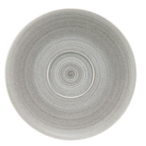 Modern Rustic Coupe Saucers Stone 12cm