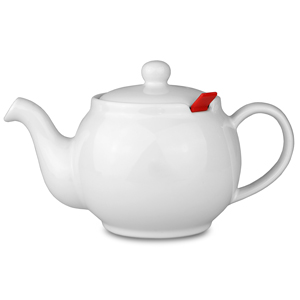 Chatsford Teapot with Strainer White 32oz / 1.1ltr