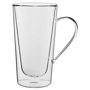 Double Walled Tall Handled Latte Glasses 12oz / 340ml