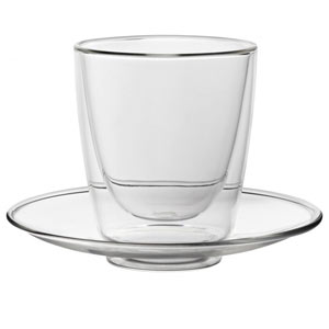 Double Walled Cappuccino Cup with Saucer 7.75oz / 220ml