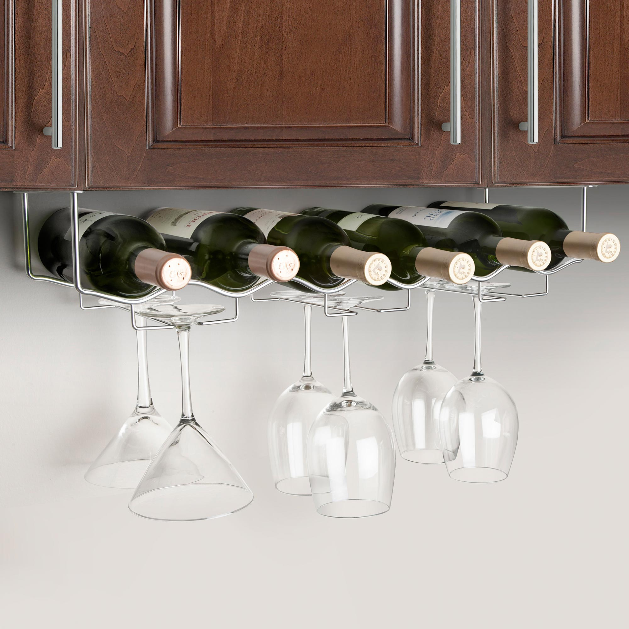 final touch under cabinet wine rack -