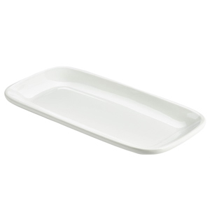 Royal Genware Rectangular Rounded Edge Plates 29.5 x 15cm