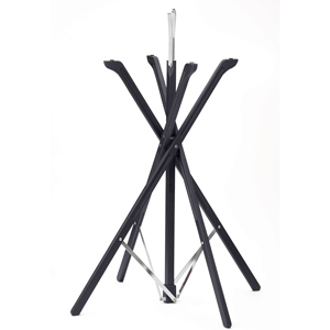 Folding Tray Stand Black Wooden Finish