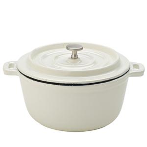 Cast Iron Calico Round Casserole Pots 14cm