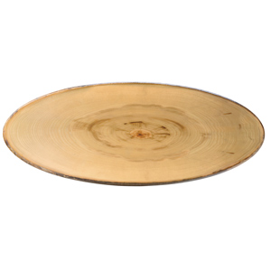 Elm Footed Oval Platter 65 x 26cm