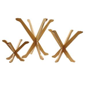3 Piece Fold-A-Way Bamboo Wood Riser Set