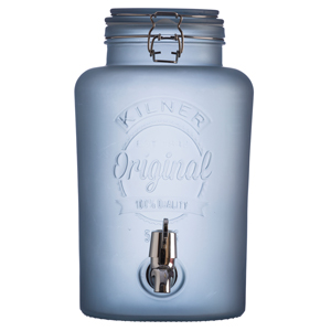 Kilner Frosted Drinks Dispenser Blue 5ltr