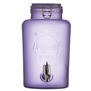 Kilner Frosted Drinks Dispenser Purple 5ltr