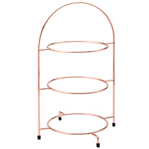 Utopia 3 Tier Copper Plate Stand 17inch / 43cm