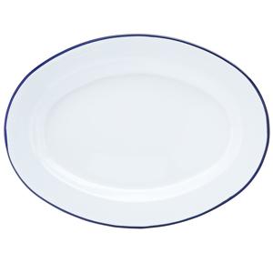 "Utopia Eagle Enamel Oval Plate 12"" / 30cm"