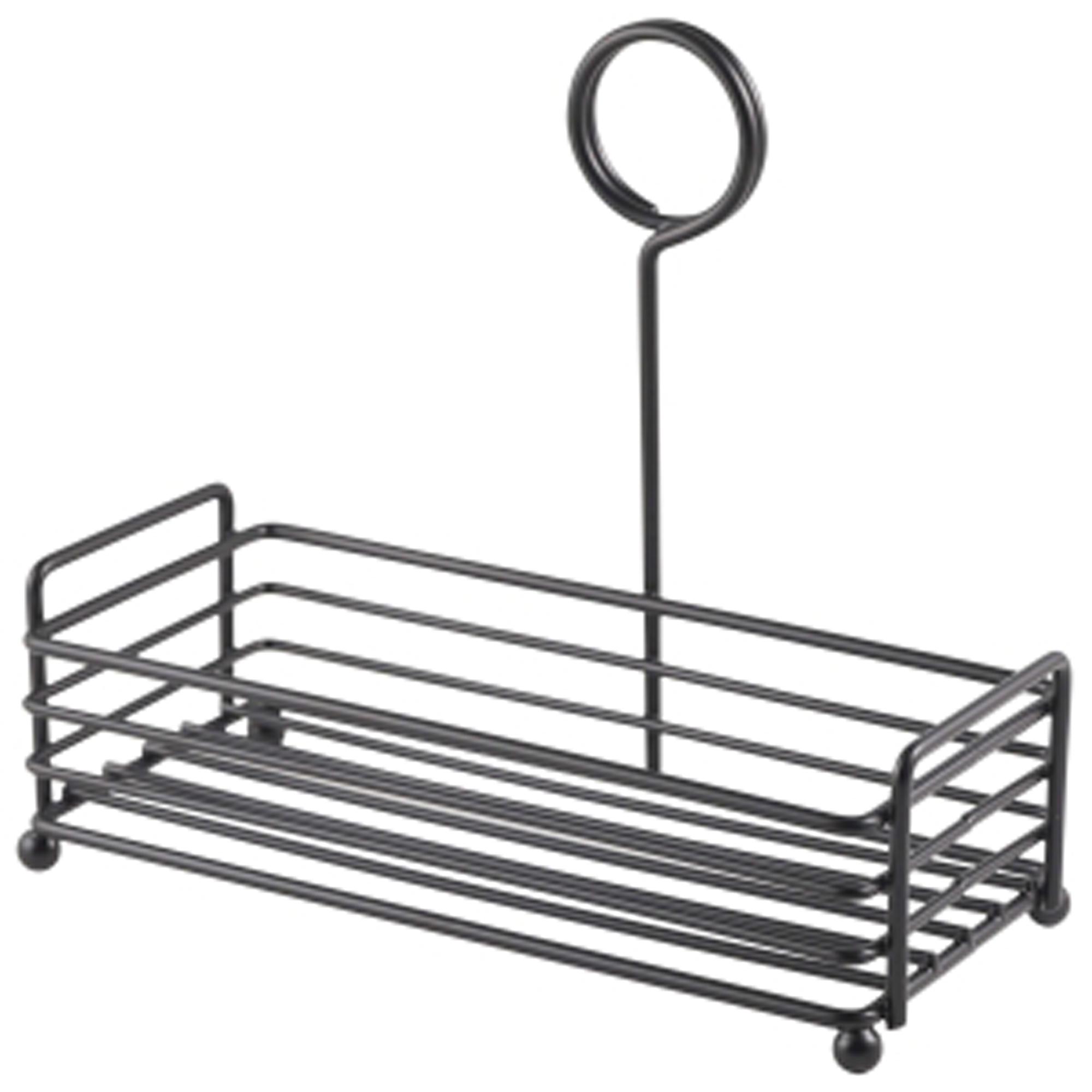 Genware Black Wire Table Caddy