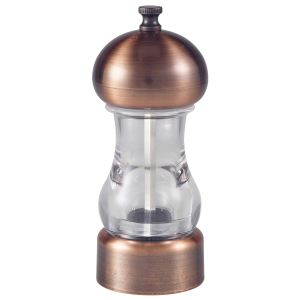 Genware Antique Copper & Acrylic Salt or Pepper Grinder