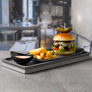 Churchill Alchemy Large Wooden Graphite Grey Deli Board 40 x 16.5cm