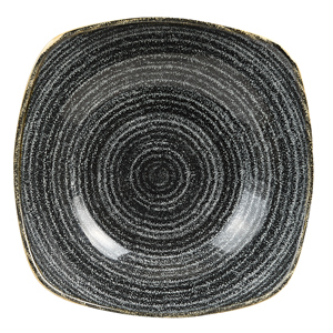 Studio Prints Homespun Charcoal Black Square Bowls 9.25inch / 23.5cm