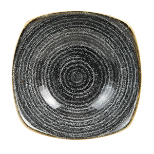Studio Prints Homespun Charcoal Black Square Bowls 7inch / 17.5cm