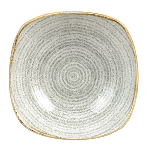 Studio Prints Homespun Stone Grey Square Bowls 8inch / 20.7cm