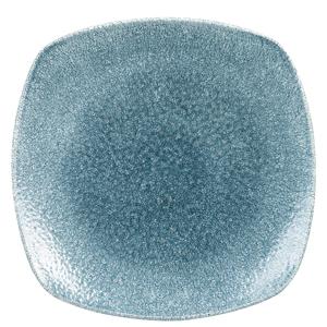 Studio Prints Raku Square Plates Topaz Blue 8.5inch / 21.5cm