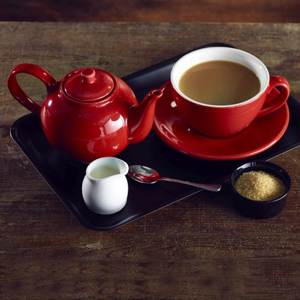 Royal Genware Teapot Red 16oz / 450ml