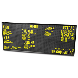 Design-A-Sign Peg Board 12 x 30inch