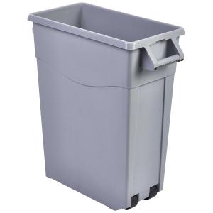 Genware Grey Slim Recycling Bin 65ltr