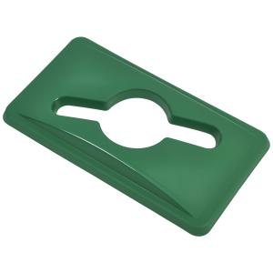 Green Glass Lid For Genware Grey Slim Recycling Bin 65ltr