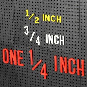 Design-A-Sign Peg Board Letters White 1.25inch